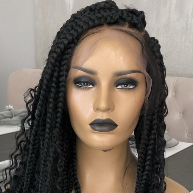 Long Goddess Box Braids Full lace Wig