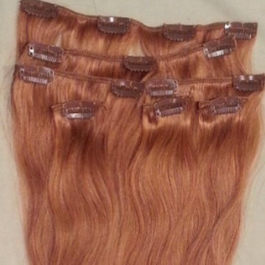 Strawberry Blonde 7 pcs Clip-In Human Hair