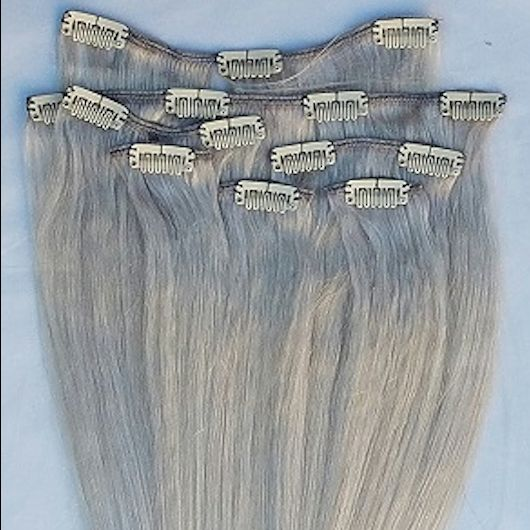 Light Ash Blonde 7 pcs Clip-In Human Hair