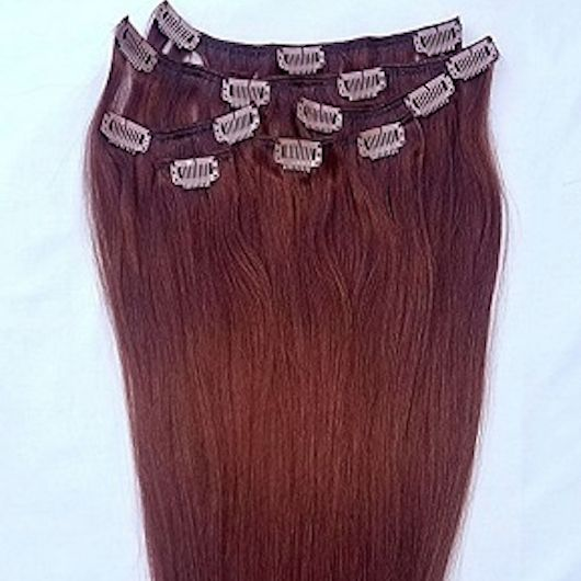 Dark Auburn 7 pcs Clip-In Human Hair