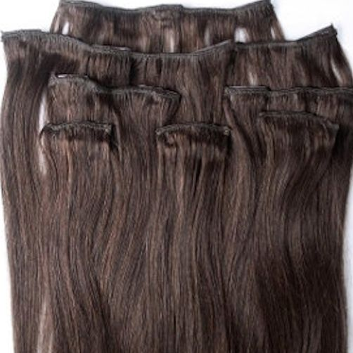 Darkest Brown 7 pcs Clip-In Human Hair