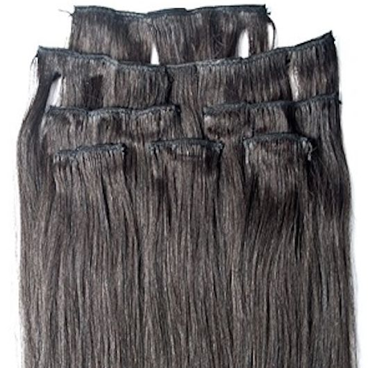 Off Black 7 pcs Clip-In Human Hair