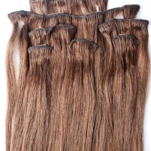 Chestnut Brown 7 pcs Clip-In Human Hair
