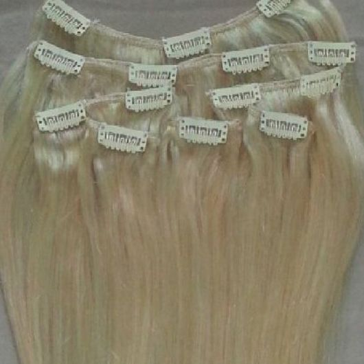 Platinum Blonde 7 pcs Clip-In Human Hair